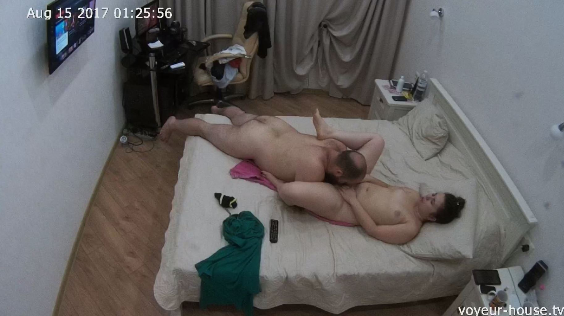 Voyeur House Lola and Otto Teenager Couple evening fuck in