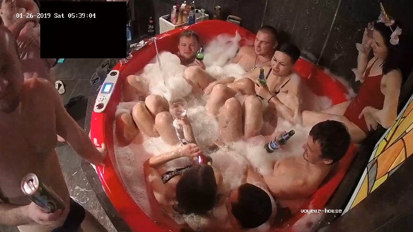 Jacuzzi party should become a new tradition, but better topless next time