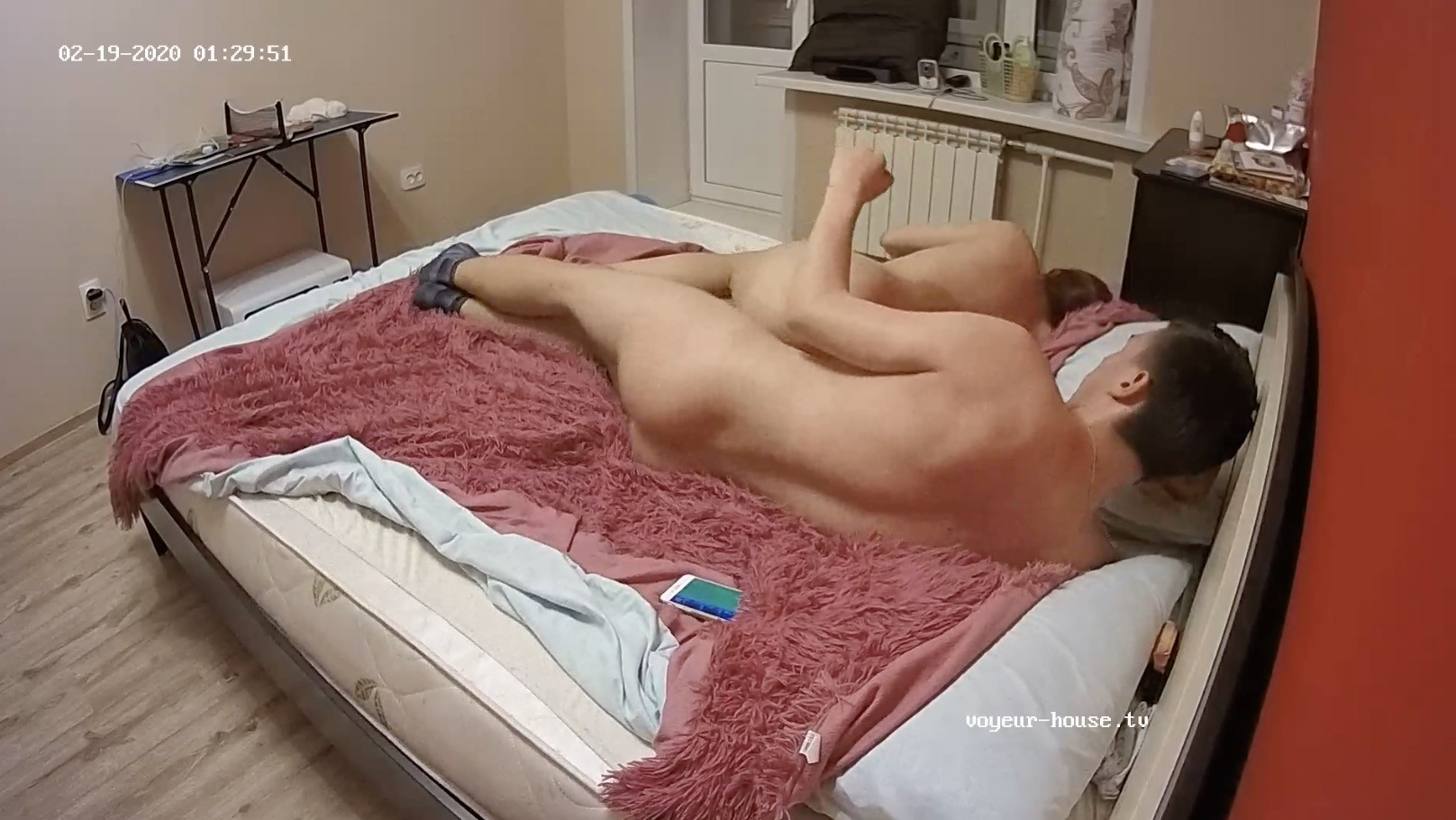 Hugo and Beverley have sex on the bed, Feb 19