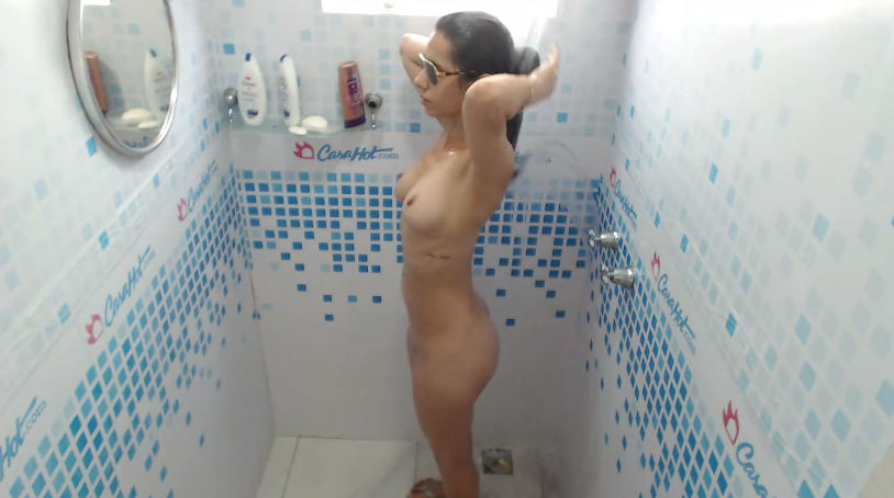 Cute brunette shower oct 7 (09:14)
