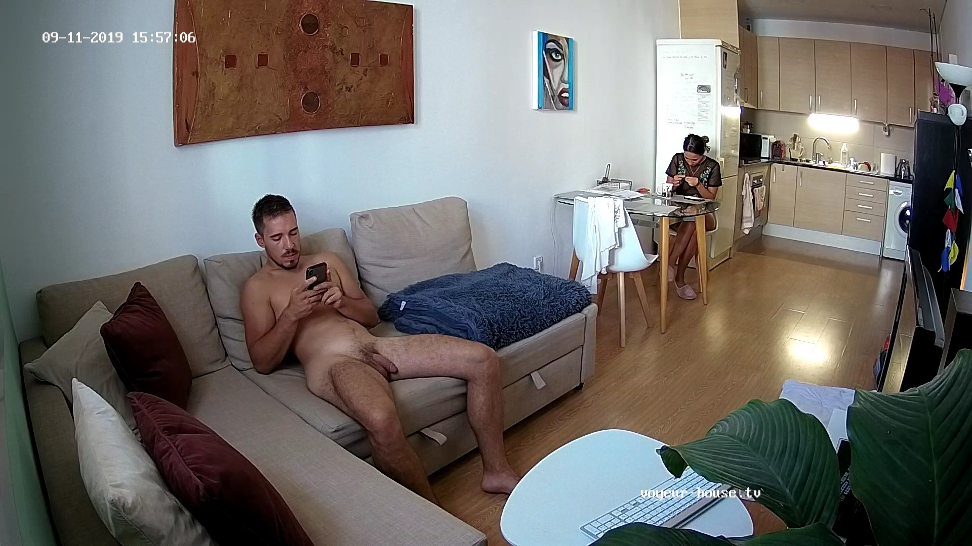 Karl naked in livingroom 11 Sep 2019