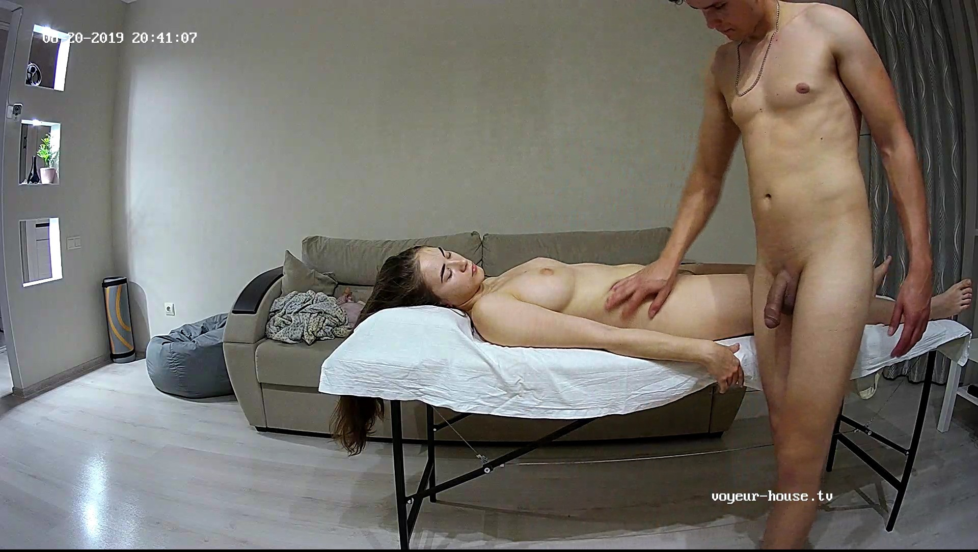 Leonie Massaged By Barney 20 Aug 2019
